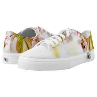 Bee On A Cherry Flower Low Tops