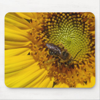 Bee on a Sunflower Mousepad