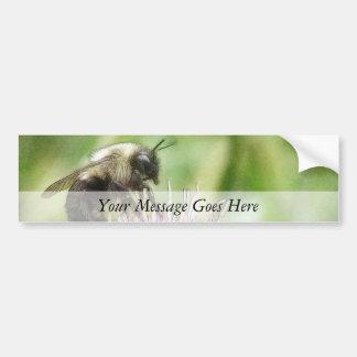 Bee On Bachelor Button Car Bumper Sticker