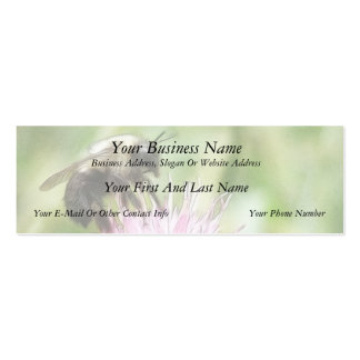 Bee On Bachelor Button Business Card Template