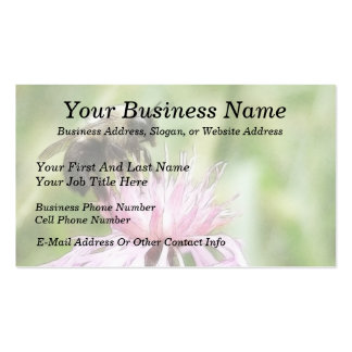 Bee On Bachelor Button Business Card