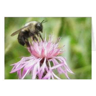 Bee On Bachelor Button Cards