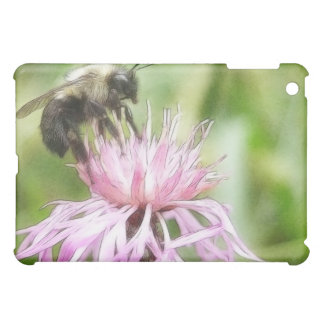 Bee On Bachelor Button Case For The iPad Mini