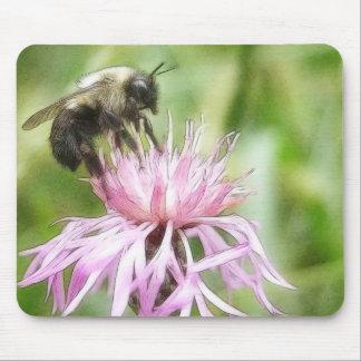 Bee On Bachelor Button Mousepad