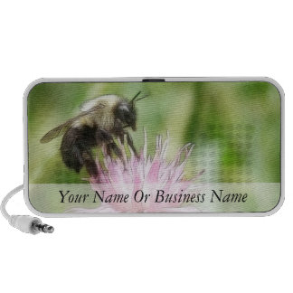 Bee On Bachelor Button iPod Speakers