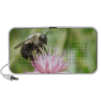 Bee On Bachelor Button Portable Speakers