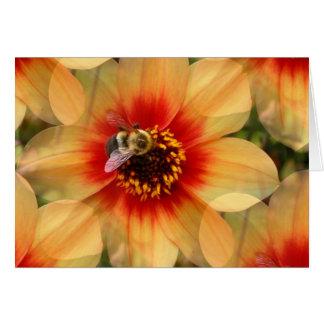 Bee on Dahlia Card