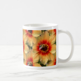 Bee on Dahlia Coffee Mug