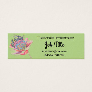 bee on flower business card