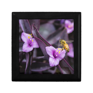 Bee on Flower Small Square Gift Box