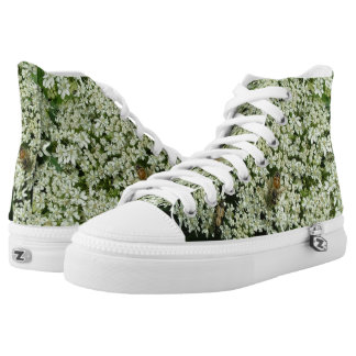 Bee on Flowers High Tops Printed Shoes