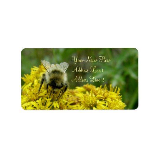 Bee on Goldenrod, Solidago Address Label