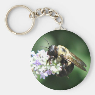 Bee on Lavender Key Chains