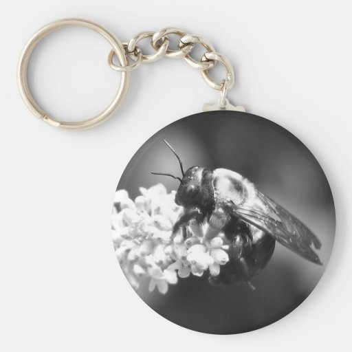 Bee on Lavender Keychain