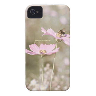 Bee on Pink Flower iPhone 4 Covers