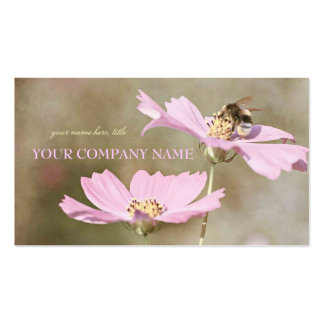 Bee on Pink Flower Pack Of Standard Business Cards