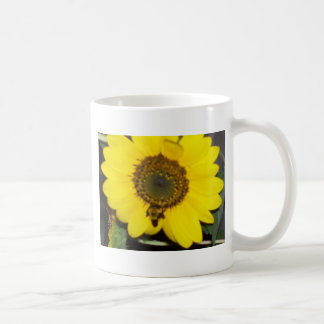 Bee on Sunflower Coffee Mug