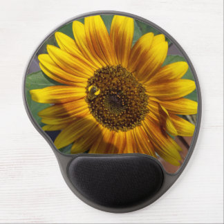 Bee on Sunflower Gel Mouse Pad