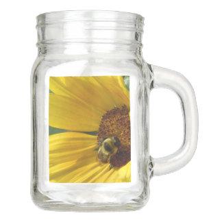 Bee on Sunflower Mason Jar