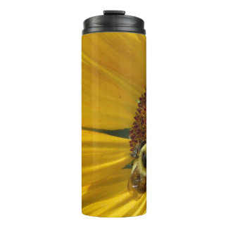 Bee on Sunflower Thermal Tumbler