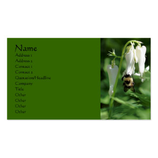 Bee On White Columbine Flower Business Card