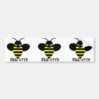Bee-otch stickers black wings