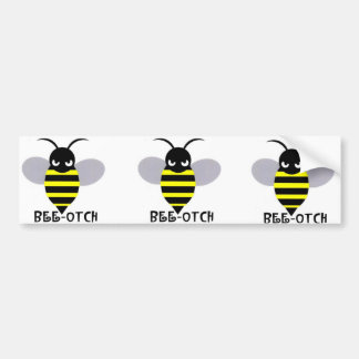 Bee-otch stickers grey wings