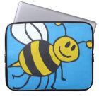 Bee painting laptop sleeve