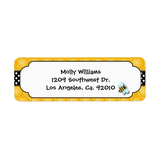 Bee Party Return Address Labels