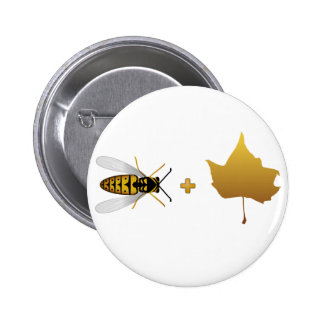 Bee plus a golden maple leaf = Bee + Leaf (Belief) Pins