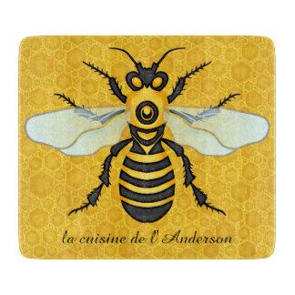 Bee Pretty Honeycomb Honeybee Hive Custom Kitchen Cutting Board