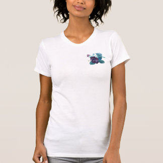 Bee & Purple Rose, Sumi-e ink painting T-shirt