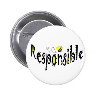 Bee Responsible button