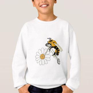 Bee Riding Bike With Flower Wheel Sweatshirt