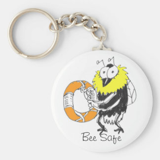 Bee Safe Keychain