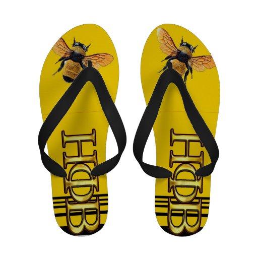 Bee shoe flip flops