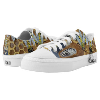 bee shoes printed shoes