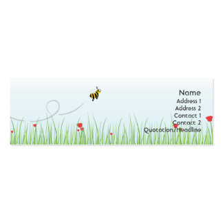 Bee - Skinny Double-Sided Mini Business Cards (Pack Of 20)