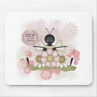 Bee Smell the Flowers Tshirts and Gifts Mouse Pad