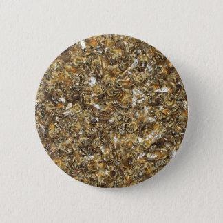 Bee swarm 6 cm round badge