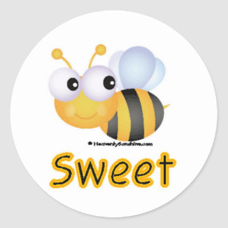 BEE Sweet Round Sticker