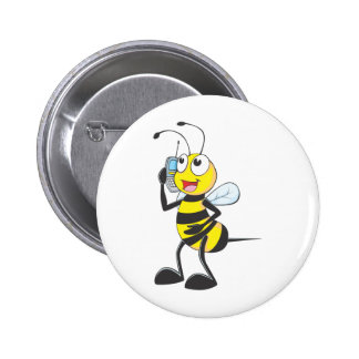 Bee Talking on Phone - Calling Someone Pin