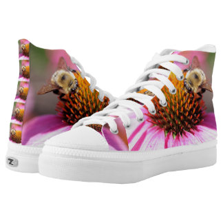 Bee tennis shoes printed shoes