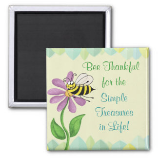Bee Thankful for.... Happy Bee Fridge Magnet
