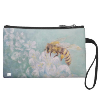 """Bee The Change"" Suede Wristlet"