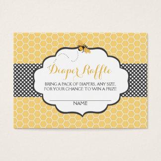 Bee Theme Honeycomb Gold & Gray Polka Dot Business Card
