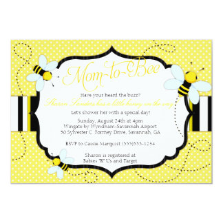 "BEE THEMED - Baby Shower Invitation - Mom to ""Bee"""