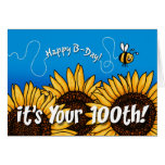 bee trail sunflower - 100 years old cards