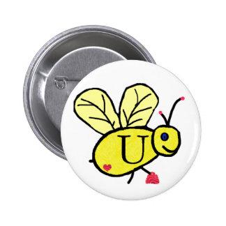 Bee U button