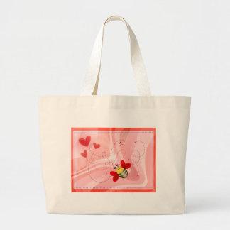BEE VALENTINE by SHARON SHARPE Jumbo Tote Bag